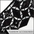 Leoas preto de algodão tecido de lantejoulas guarnição/laço de nylon katan saree para cartões de casamento