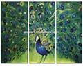 resumen de alta calidad hechos a mano de los animales peacock único de pintura al óleo