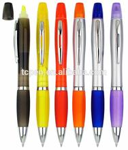 2014 hot selling multi color highlighter marker pen ball pen
