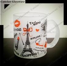 300ml Beer Mug Glass,Paris Tower Design,Travelling Souvenir.