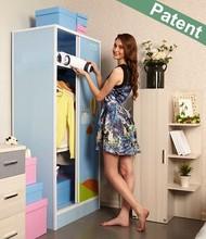 portable assemble closet and wardrobe Solid PP Material Non-toxic moving wardrobe knock down wardrobe best price closet