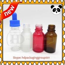 China supplier red glass e liquid bottles 30ml/50ml 20ml unicorn glas dropper bottles blue red amber green yellow color bottle