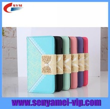High Quality Bowknot Design Luxury Leather Wallet For Apple iPhone 6 64gb Phone Case 5 Colors with Hand Strap