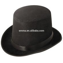 Superior carnaval sombrero de cuero de fieltro sombrero de copa barato venta al por mayor del sombrero HT4146