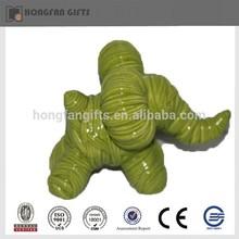 Hotsale green ceramic elephant