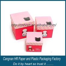 Customer cardboard birthday gift box