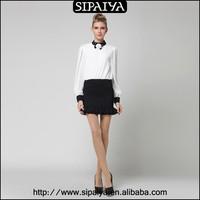 Popular classic overskirt white chiffon short skirt