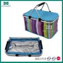 2 person luxury folding picnic basket set