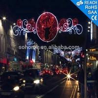 Christmas Decoration LED Motif Cross Street Light with Fancy 3D Motif Light Decoration Street Motif Light