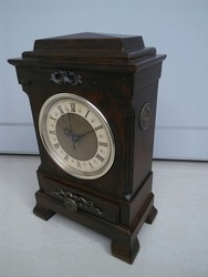 solid wood imitation antique unique table clock