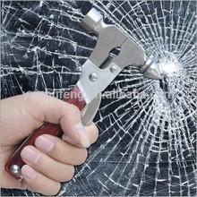 Card multifunctional metal car safety hammer taper life-saving hammer window emergency escape hammer 16 in 1