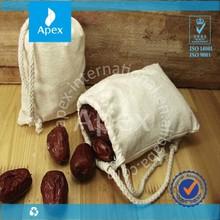 small organic cotton drawstring bag,cotton bag for food