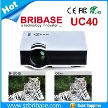 New Original BRIBASE UC40 Mini LED Korean / Russian / Portuguese / Spanish cheap short throw projector