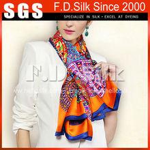 Hellosilk economic design NEW cheap digital printing on silk scarf wholesale