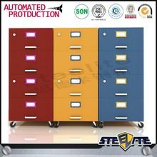 Colorful simple used cabinet steel locker ikea multi drawer cabinet
