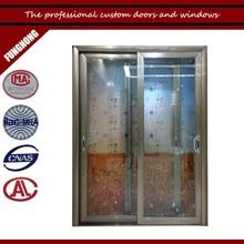 Decorative glass panel doors curtains for cheap glass doors