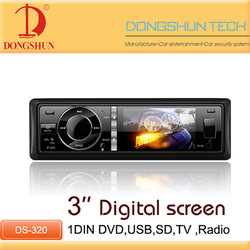 Universal player single din dvd head unit with USB