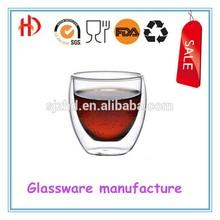 double wall glass juice mug/glass coffee tea cups