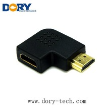 Free sample Flat hdmi 90 degree adapter male to female