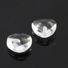 Chian double facet cut white clear color crystal glass Plummet