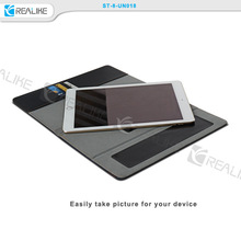 high quality washable black sticker stand leather case for tablet pc