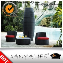 DYBS-D5404 Danyalife New Synthesis Wicker Aluminum Stackable Courtyard Furniture