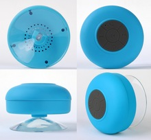 bluetooth shower speaker/water resistant wireless and hands free bluetooth speaker phone with suction cup