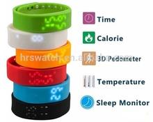 2015 factory price Waterproof 3D Smart Calorie Pedometer USB Sports bangle smart Bracelet W2
