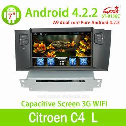 High quality!Hot selling Citroen C4 L car dvd player with bluetooth gps radio cd vcd dvd mp4 mp5 3g