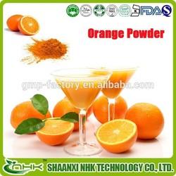 GMP factory supply high quality 100% natural slimming orange powder, orange juice powder