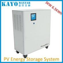 6500Wh 3000W output power w/ MPPT BMS UPS 230v 220v 110V home energy solar system