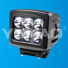 12v driving worklight square 18w led work light, led work lamp spot flood beam