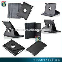 360 degree rotation pu+pc leather case for ipad mini