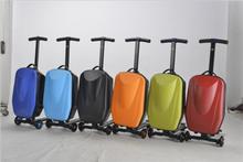 PC/EVA luggage 2015 travel luggage suitcase scooter with three wheels