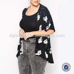 Australia fashion designer xxl fat women floral print kimono bohemian clothing