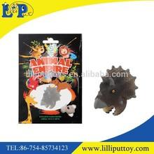 Triceratops en plastique jouet anneau couleur de dinosaur réaliste cadeau