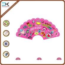 Cute small pp plastic folding fan for little girls