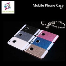 "for iphone 4.7"" 5.5"" pink blue silver gold color Glitter PC diamond phone case"