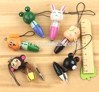 2015 customized pvc pen topper;make your own ball pen pen topper;cute pen topper