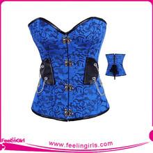 Wholesale Blue Elegant Women Steel Bone Corsets Bustiers