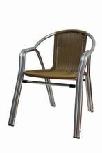 aluminium wicker side garden chair