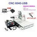 Bajo costo de grabado del cnc/milli del cnc de la máquina 6040 z-usb mach3 manual de router con 1500w vfd husillo y auto- herramienta de control& libre de regalo