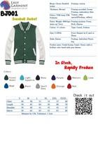 2015 New Customized Logo printed or blank baseball jacket