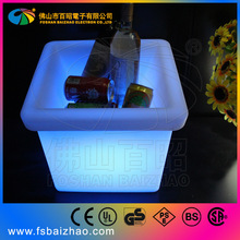 PE led ice cooler/rechargeable ice cube cooler/led holder with 16 colors