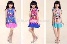 girls oem nifty cat printing dresses