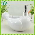 Cerámica blanco pájaro de la paz de la decorativo botella de loción