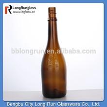 longrun alibaba china de vidrio ámbar de la botella de champagne para suministro de china