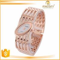 2015 kingsky k8006# watches bling diamond cut pave bracelet logo movement quartz