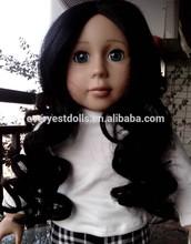 Eco friendly kawaii french dolls wig/18 american girl doll wigs doll/18 inch brown hair doll