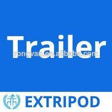 OEM tri-axle dump semi trailer custom angle load Horse float